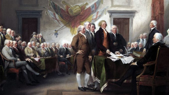 The Declaration of Independence by John Trumbull (Trumbull Collection)