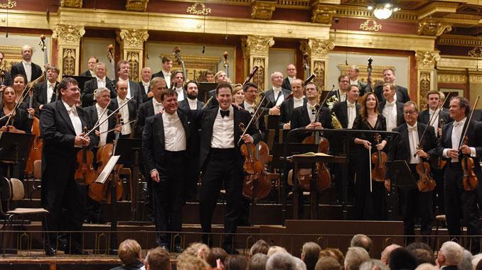 Кристиан Тилеман и Николай Цнайдер. Концерт в зале Музикферайн 9 сентября 2017 года. Фотография предоставлена пресс-службой Дрезденской Штаатскапеллы