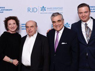 Слева направо: Харви Барнетт, Сюзан Фрэнклин, Натан Щаранский, д-р Стивен Насатир, Алек Турик, Женя Ковельман
