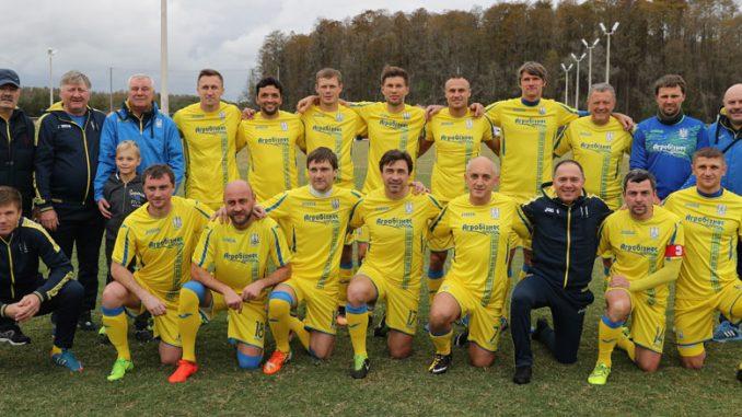 Победитель турнира ветеранов - Сборная команды Украины