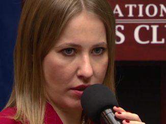 Ксения Собчак во время визита в США