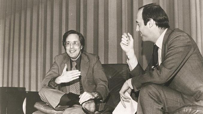 Уильям Фридкин и кинокритик Джин Сискель (XVI Чикагский МКФ, 1980 год)