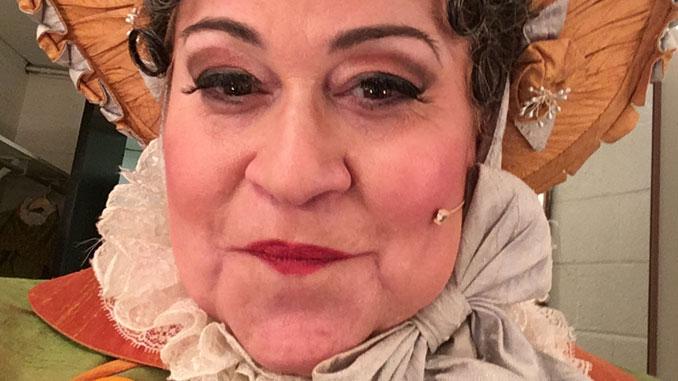 """Синди Голд в опере """"Дочь полка"""" в Вашингтонской национальной опере. Фото из личного архива С.Голд"""