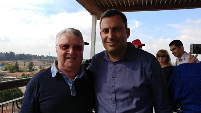 С мэром Сдерота Алоном Давиди