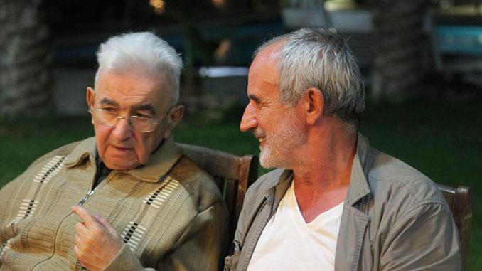 Григорий Канович и Римас Туминас. Фото из личного архива Дмитрия Кановича
