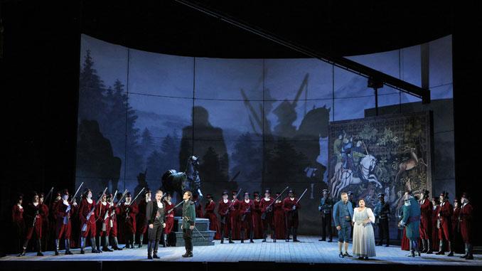 "Сцена из оперы ""Луиза Миллер"" (Опера Сан-Франциско). Фото - Кори Вевер"