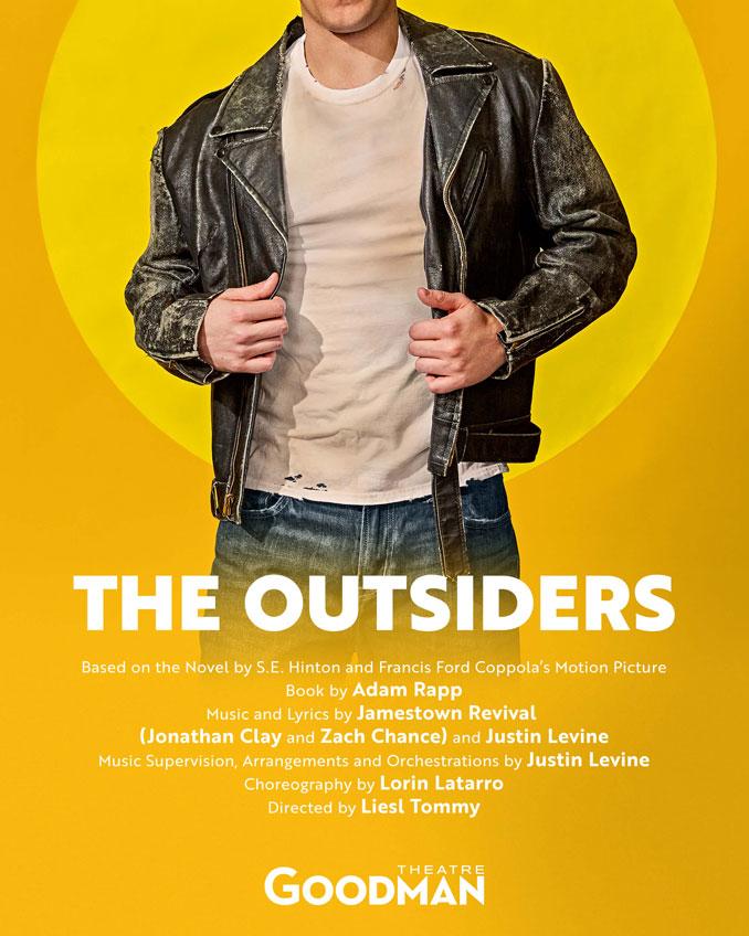 "Постер к спектаклю ""The Outsiders"". Фото - Goodman Theatre"