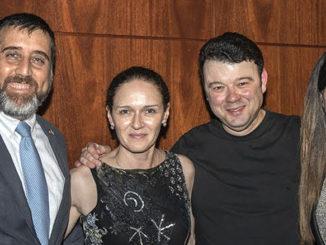 Генеральный консул Израиля Авив Эзра, Анжела Иоффе, Вадим Глузман и Эйнат Эзра