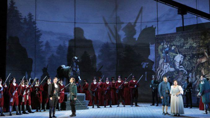 "Сцена из спектакля ""Луиза Миллер"" (Опера Сан-Франциско). Фото - Кори Вевер"