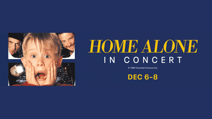 "Постер к вечерам ""Home Alone in Concert""."