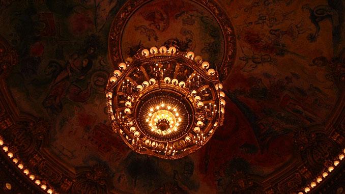 Потолок Парижской оперы. Фото - Сергей Элькин