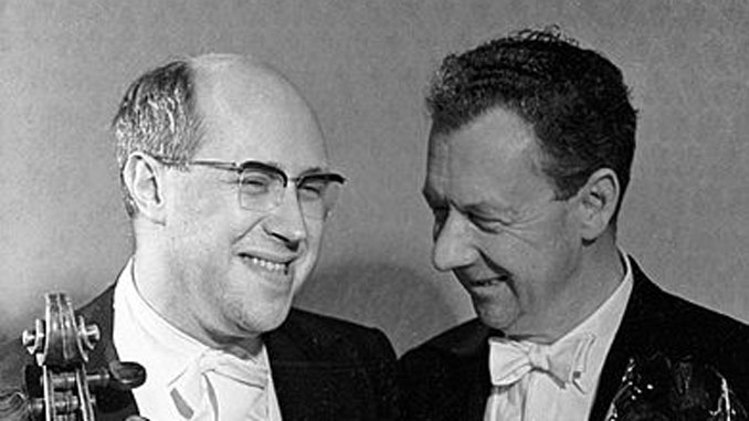 Мстислав Ростропович и Бенджамин Бриттен. Фото из архива ЧСО