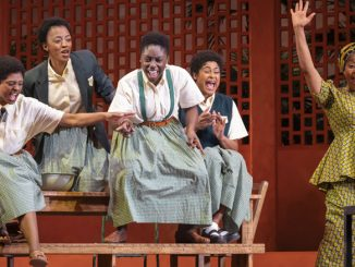 "Сцена из спектакля ""School Girls"" (Goodman Theatre, 2020 год). Фото - Лиз Лоурен"