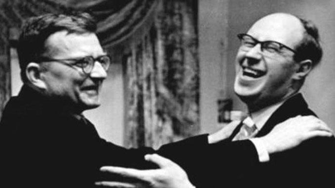 Дмитрий Шостакович и Мстислав Ростропович. Фото - izbrannoe.com