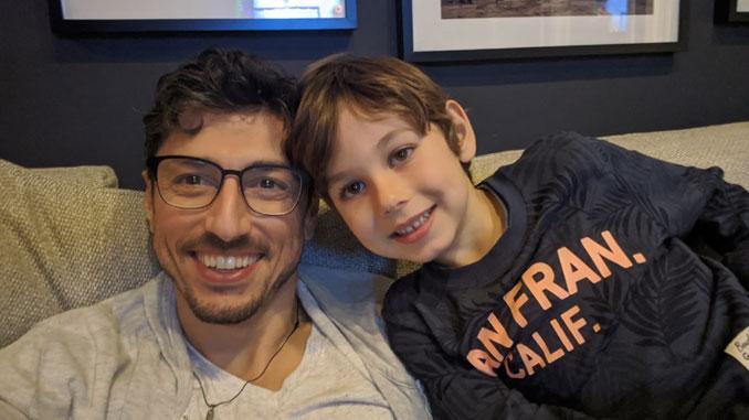 Эрнст Берлин, Президент центра Forever Young, и Сын Яков. Фото: Эрнст Берлин