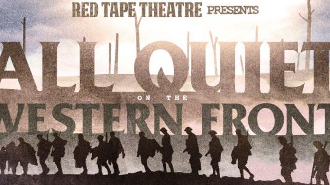 "Постер к спектаклю ""На Западном фронте без перемен"". Фото - Red Tape Theatre"