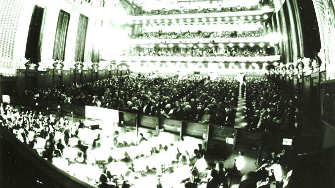 Зал Лирик-оперы, 1955 год. Фотография из архива Лирик-оперы