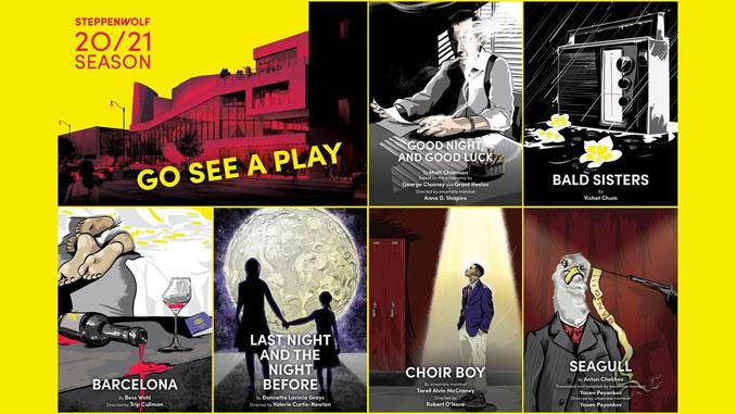 Коллаж к спектаклям сезона. Фото - Steppenwolf Theatre
