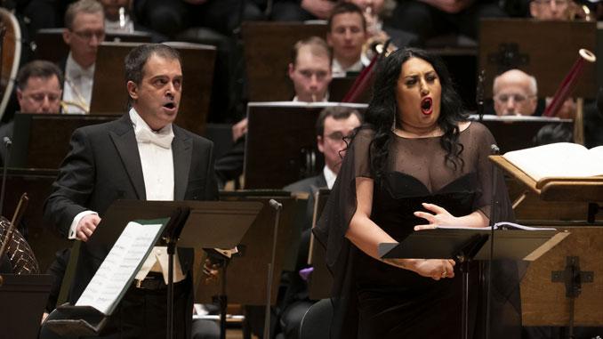 Анита Рачвелишвили и Пьеро Претти. Чикаго, 6 февраля 2020 года. Фото - Тодд Розенберг