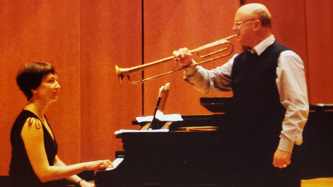 Ирина с К.Стил-Перкинсом. Pick-Staiger Concert Hall, Эванстон. Фото из архива И.Феоктистовой