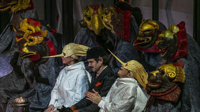 """Сцена из спектакля """"Пиноккио. Театр"""". Фото - Андрей Безукладников"""