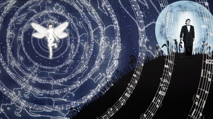 """Сцена из спектакля """"Волшебная флейта"""" (Опера Лос-Анджелеса). Фото - Кори Вейвер"""