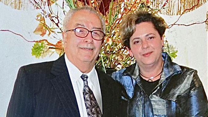 Ефим Лейбов с дочерью Леной Мишаловой. Фото: Е. Лейбов